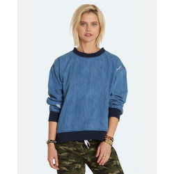 Pull Femme Create Denim Element