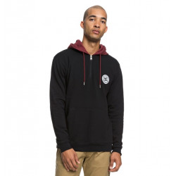 Sweat Homme demi-zip capuche REBEL DC