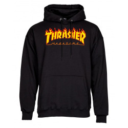 Sweat Capuche Flamme LOGO Thrasher
