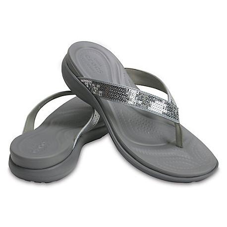 Tongs Femme Capri V Sequin Flip Crocs