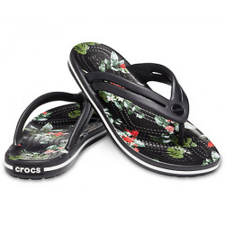 Tongs Femme Crocband Botanical Print Flip Crocs