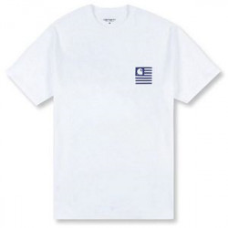 T Shirt Homme WIP Waving State Flag Carhartt wip
