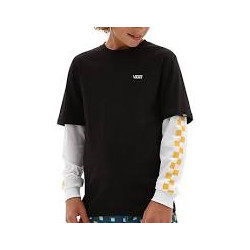 T Shirt Junior LONG CHECK TWOFER Vans