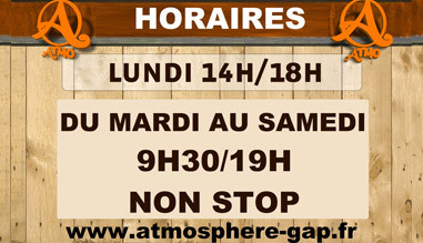 Horaires Atmosphere Gap