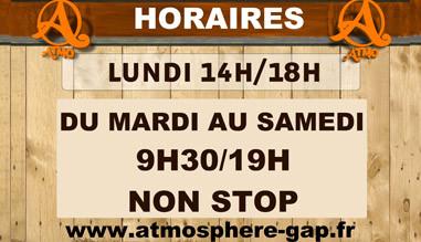 Horaires Atmosphere Gap